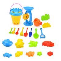 Wholesale children sand buckets resale online - toys for children SandBox beach Set Kit Sea sand bucket Rake Hourglass Water Table play and fun Shovel mold summer g30