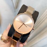 pulseras sencillas para mujer. al por mayor-2019 venta caliente señora de la manera de alta calidad reloj de las nuevas mujeres populares de estilo sencillo de acero inoxidable pulsera de reloj de pulsera femenina reloj de lujo
