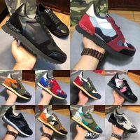 мужская кожаная обувь оптовых-Натуральная мужская кожаная мода Роскошные дизайнерские туфли Белые кожаные открытые кроссовки с черными белыми кроссовками Chaussures Корзины 38-46