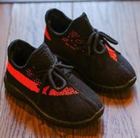 ingrosso marchio logo scarpe-Primavera Autunno Designer Marchio di marca Scarpe Bambino Toddler Shoes Viaggio Gioventù Soft Logo Scarpe Bambini Ragazzi Ragazze Sneakers