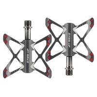 aluminium-fahrradpedale groihandel-PROMEND 3-Bearing Fahrradpedal Aluminiumlegierung Fahrradpedal Butterfly Modellierung Aluminiumlegierung Pedal Mountainbike Highway Fahrrad-Pedal
