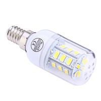 led ışıklar ampuller toptan satış-AC 220 V E14 3 W 300LM SMD 5730 24 LED'ler ile LED Mısır Ampul Işık