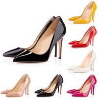 Hot selling New Luxury Brand Designer Red Bottoms High Heels Round Pointed Toes Pumps Black Nude Red Women Wedding Dress Shoes 35-42