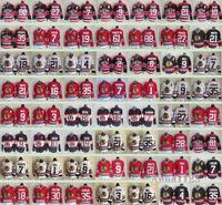 зимний классический трикотаж чикаго блэкхокс оптовых-Зима Чикаго Блэкхокс Классик Мужчины # 21 Стэн Микита 18 Денис Савард 27 Джереми Реник 30 ED Футболки Belfour для хоккея с шайбой