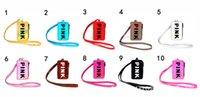 halsbörsen großhandel-Love Pink Lanyard Umhängeband Card Slot Holder Tasche Name Credit Bag Frauen VS Geldbörse Schreibwaren Halter ID Card Bargeld Laser Geldbörse