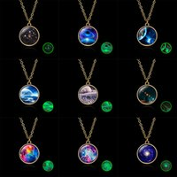 Wholesale starry sky necklace for sale - Group buy New Vintage Handmade Glass Ball Planet Universe Starry Sky Galaxy Pendant Necklace Women Fashion Time Gem Jewelry Accessories