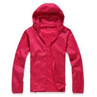 Wholesale anti uv jacket online - Unisex Rain Jackets Outdoor Casual Hoodies Windproof Waterproof Sunscreen Face hooded Coats Skin Anti UV Raincoats colors GGA1587