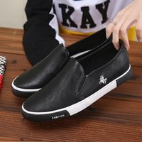 cc flats оптовых-TRAANO Men Shoes  Casual Shoes Solid Retro Breathable Microfiber Leather Flats Mens Footwear Lace-up CC-091-3