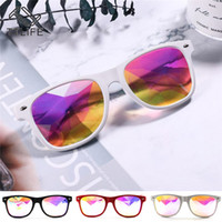 Wholesale vintage electronics resale online - TTLIFE Diamond Mosaic Nightclub Anime Electronic Music Festival Vintage Holographic Glasses YJHH0310