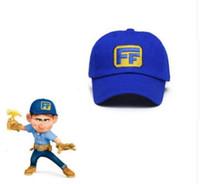 ffec2582c2c5c ralph Rompe el sombrero de Internet Wreck-It Ralph 2 Cosplay Fix-It Felix  Hat Gorra de béisbol azul disfraces Prop Hip-pop Hat KKA6357