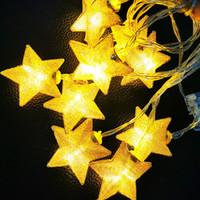 ingrosso segno luci al neon di baseball-LED String Lights 1.5M 3M 4.5M Star Fairy Light filo di rame Batteria a funzionamento al coperto all'aperto luci di decorazione di nozze di Natale