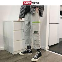 ingrosso tute di carico del mens-LAPPSTER Streetwear giapponese pantaloni cargo da uomo 2019 Tuta da uomo tasche pantaloni sportivi pantaloni Harem dritto Hip Hop Joogers 5XL