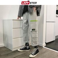 xs pantalones harem para hombre al por mayor-LAPPSTER Streetwear Japonés Pantalones Cargo Hombres 2019 Monos Hombres Bolsillos Pantalones de chándal Pantalones rectos masculinos Hip Hop Joogers 5XL