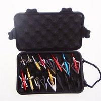 стрелка руки оптовых-Archery Arrow Heads Case Пластиковый Ящик для инструментов Ящик для хранения Стрелка с ремешком для ношения Охота Стрельба из лука Broadhead # 149250