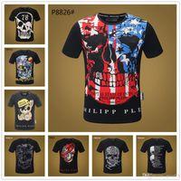 bling camisetas al por mayor-18SS Mix 22 modelo Hombres camiseta Rey de Bling Crystal Skull T camisetas Camiseta de manga corta Tops Masculina Camiseta Homme