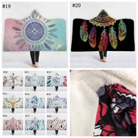 Wholesale acrylic blankets adult for sale - Group buy Dreamcatcher Hooded Blanket For Mandala Football Towel Children Adult Blouses Sofa Blanket Wrap Shawl Poncho Cape Coat Xmas Gifts MMA1120