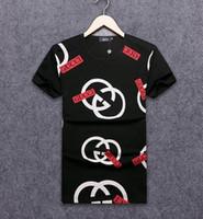 avrupa tarzı şort erkek toptan satış-18ss Avrupa ve Amerikan tarzı Hip Hop kış erkek t-shirt Kısa Kollu% 100% Pamuk polo gömlek gömlek erkekler teel kalça 3g erkek g t shirt 705