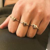 jóia do anel z venda por atacado-26-letra A-Z Alloy Set Anel Alloy Anel De Prata De Ouro Para As Mulheres Moda Jóias Pinky Dedo Ladies Band Anel Frete Grátis