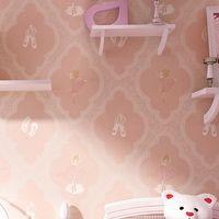 wandpapiere mädchen großhandel-Kindertapete Kinderzimmer Tapete Weiß Rosa Blau Junge Mädchen Schlafzimmer Tapeten Wohnkultur Wandverkleidung
