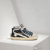 ingrosso scarpe casual maschile coreano-GGDB Alto aiuto Mens Women Casual Shoes Italia stile coreano fatto a mano fare il vecchio Oro Oche Francy villi cuoio genuino