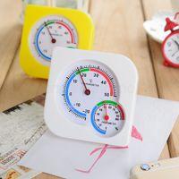 islak termometre toptan satış-Mini Islak Higrometre Nem Termometre Sıcaklık Ölçer Kapalı Açık Ev Doğru nem Nem Ölçer Mutfak Aletleri FFA3098