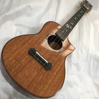 Wholesale 26 inches ukulele resale online - 26 inches Ukulele peach blossom core panel Side panel Peach blossom core wood on back plate Free freight