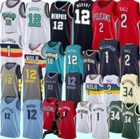 jerseys estoque de basquete venda por atacado-NCAA 1 Sião Williamson College Basketball Jerseys 12 Ja Morant Lonzo 2 Bola 9 RJ Barrett 34 Basketball Jerseys S-XXL Stock 2019 2020