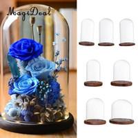 ingrosso paesaggio matrimonio-MagiDeal Set 7 Glass Cover Landscape Vase Terrarium Contenitore portacandele per decorazioni natalizie