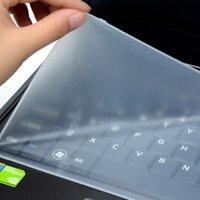 dizüstü film koruyucuları toptan satış-Su geçirmez koruyucu film 15 laptop klavye kapağı 15.6 17 14 Macbook Pro için silikon koruyucu 15