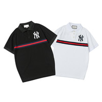 Wholesale new print mens polo shirt resale online - Mens Designer Polo T Shirt Luxury Men Brand Polos New Arrival Striped Colors Casual Mens Polo Casual Men Summer T Shirt Polos Size S XL