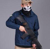 saco de pára-brisa venda por atacado-Sunscreen dos homens de Pesca Ao Ar Livre Ultra-fino Permeável Velocidade Seca Esportes de Verão Windshield Tactical Jacket Com Sacos de Recebimento Tático Hoodies