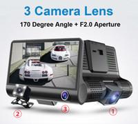 cámara de visión nocturna del vehículo al por mayor-3 cámaras coche DVR auto conducción dashcam vehículo video grabadora 4