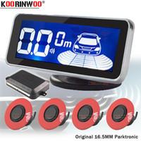 Wholesale human voice resale online - Koorinwoo LCD Screen Flat Romate Car Parking Sensor Human Voice bibi Sounds Parktronic Sensor Probe Car Step Electronic Detector