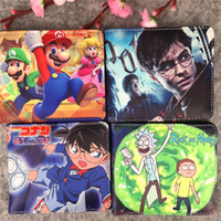 Wholesale mario kids bag for sale - Group buy INS Baby Mario Wallet PU Leather Bag Anime Series Cartoon Cute Kids Bag Boutique Coin Purse Student Personality Short Wallet M347