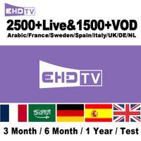 caja iptv árabe gratis al por mayor-2500 canales de TV gratuitos IPTV Bi-en Sports Francés España Árabe Ex-Yu Húngaro India SkyIT Portugal SkyUK Suscripción de IPTV para decodificador