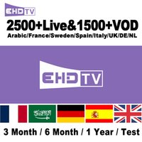iptv sportkanäle großhandel-Kostenlose 2500 Fernsehkanäle IPTV Bi-en Sports Französisch Spanien Arabisch Ex-Yu Ungarisch Indien SkyIT Portugal SkyUK IPTV Abonnement für Set-Top-Box