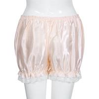 pantalon de sécurité blanc achat en gros de-Mode féminine en vrac Élasticité Hot Pants Bloomers Été Casual Dentelle Shorts Safety Pants noir blanc rose taille libre