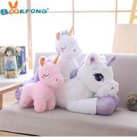 ingrosso bambole di dimensioni giganti-Giant Size Unicorno di alta qualità peluche giocattolo morbido farcito Cartoon Unicorn Dolls Animal Horse Bambini ragazze regalo
