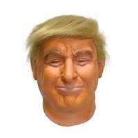 Wholesale wedding party masks for sale - Group buy Donald Trump Latex Mask Billionaire American US President Politician halloween Fancy party full head mask costume Dress
