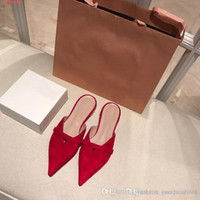 Wholesale diamond spring water for sale - Group buy Spring and summer new style water diamond low heel set foot Sheep wool Leather loafers Baotou for women shoes slippers