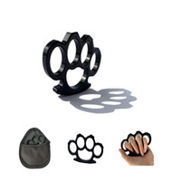 Wholesale thin knuckle duster resale online - New tactical accessories knuckle duster black thin section mm wild survival self defense joint protectionKnuckle dusters black t
