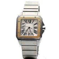relógios de rosto branco para homens venda por atacado-Limitada W200728G relógio de pulso mens movimento automático face branca aço 316L Authentic strap watch men frete grátis