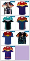 Wholesale marvel women cosplay online - Captain Marvel T shirts Men Women Youth Harajuku Streetwear Tee Shirt Plus Funny Marvel Hero Top Clothes Cosplay