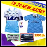 c43a1e352fe Discount retro soccer jerseys - new 2018 2019 Lazio Italian Cup final jersey  1991 retro Lazio