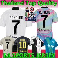 Wholesale RONALDO Juventus home third Kit Men Woman Kids Soccer Jersey New DYBALA juventus EA SPORTS JERSEY MANDZUKIC Football Shirts
