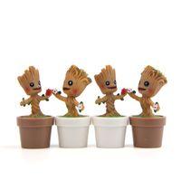 boneca mini para homens venda por atacado-Homem árvore de flor pote mini groot brinquedos figura diy micro paisagem boneca jardim decoração resina presente de aniversário 5 5jn c1