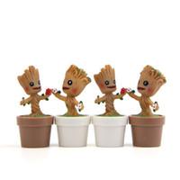 ingrosso bambole di silicone diy-Tree Man Flower Pot Mini Groot Toys Figura DIY Micro Landscape Doll Decorazione del giardino Resina Regalo di compleanno 5 5jn C1