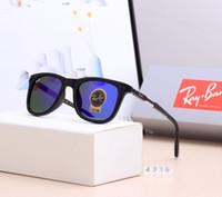 pilot mode flieger sonnenbrille groihandel-2019 RayBANS RB4239 Vintage-Pilot Sonnenbrille Fashion Trend 52mm der Frauen der Männer UV400 Farbe Film polarisierte TAC-Objektiv Fliegerbrillen