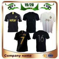 sınırlı sayıda futbol toptan satış-2019 İsveç kulübü AIK Stockholm Futbol Forması 19/20 # 7 LARSSON Ev Siyah Futbol Gömlek Kısa 1891 Sınırlı Sayıda Siyah Futbol Üniforma