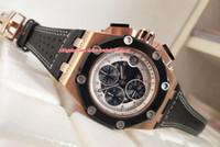 chronographe pour homme en or rose achat en gros de-Articles de luxe de haute qualité 42mm Offshore 26078 26078RO.OO.D002CR.01 Montre en or rose 18 carats VK Quartz Workin pour homme